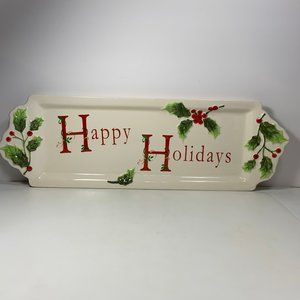 St. Nicholas Square Holly Jolly Rectangle Platter